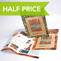 Printing.com folded Silk leaflets half price in May