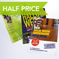Printing.com silk leaflets half price in May